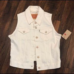 Levi Strauss & Co Women's White Vest